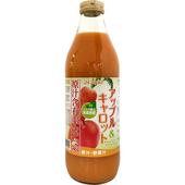 《日本青森縣》蘋果紅蘿蔔果汁(1000ml/瓶)