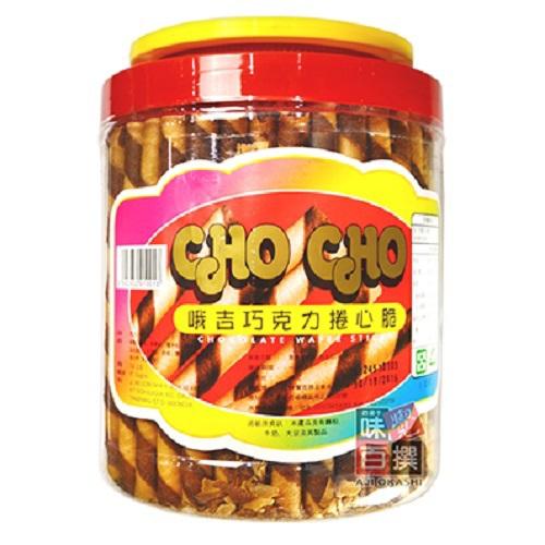 《CHO CHO》捲心脆(巧克力700g/桶)