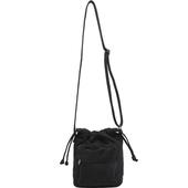 簡約抽繩帆布包-19X11X24cm(黑色)