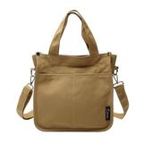 極簡素色帆布包-26X11X26cm(黃色)