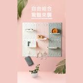 無痕廚房衛浴收納洞洞板-23.5X31cm(粉色)