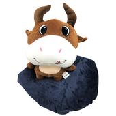 牛牛造型抱枕毯(45X45cm)