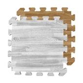 《EVA》北歐風拼花木紋地墊(6入)-款式隨機(32X32X1cm(±1mm))