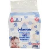 《嬌生》嬰兒純水柔溼巾(加厚型80抽X3包/袋)