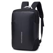 15吋防潑水USB電腦雙肩防盜後背包 黑色(47X31X14cm)